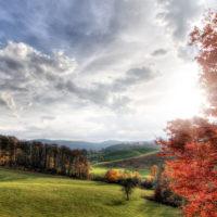A stunning autumn sunset on the Blue Ridge Parkway in NC on Monday, October 31, 2016. Copyright 2016 Jason Barnette