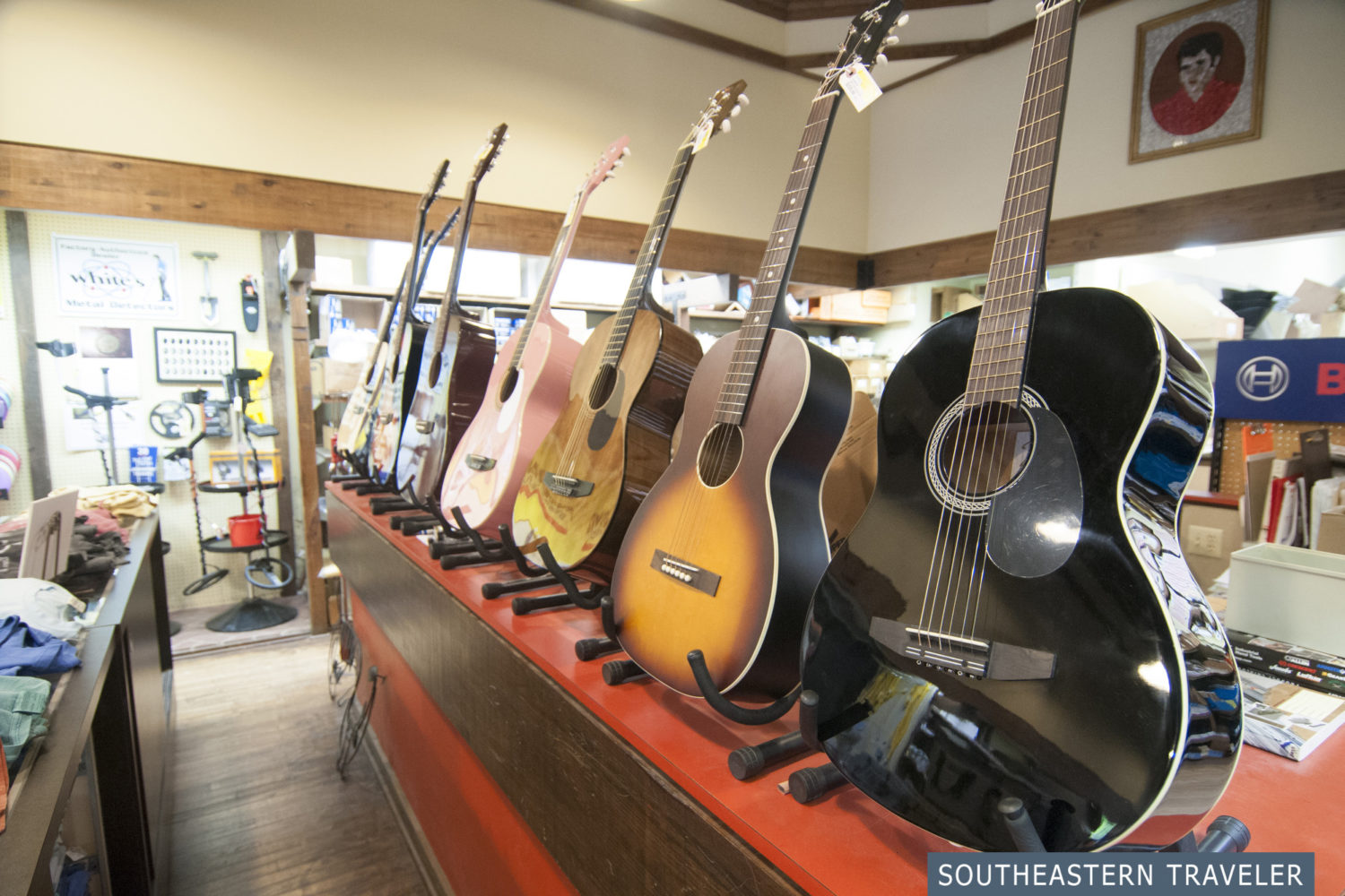 Guitars for sale at the Tupelo Hardware Company in Tupelo, Mississippi