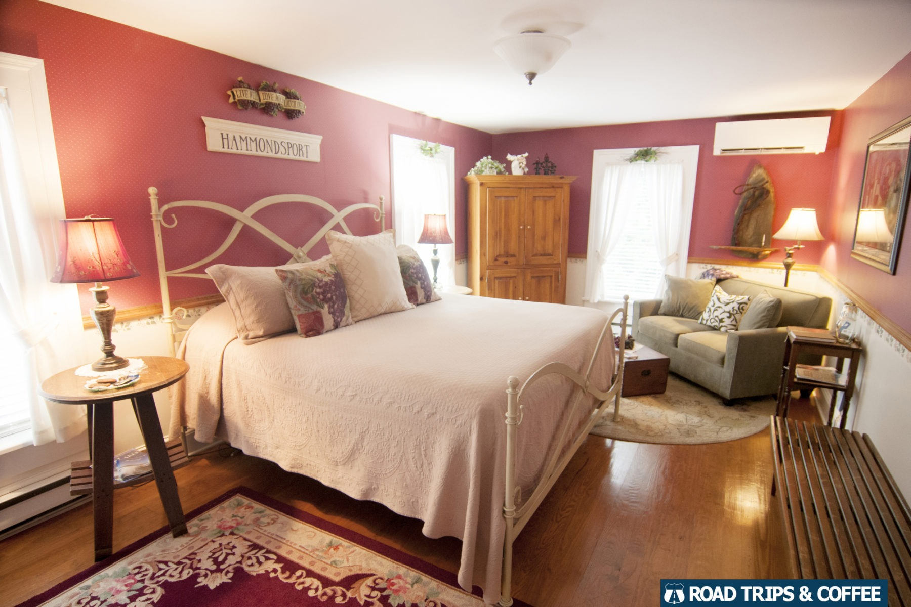 A gorgeous room at the Blushing Rose Bed & Breakfast in Hammondsport, New York