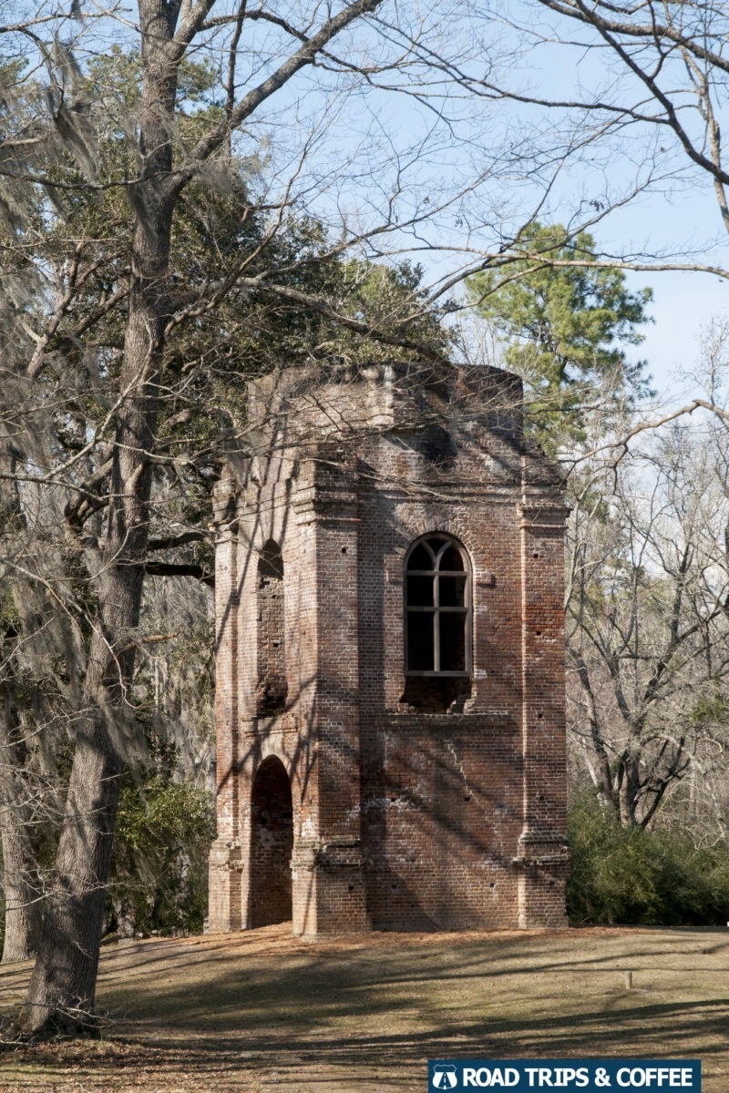The bell tower of St. George Anglican Church at Colonial Dorchester State Historic Site in Summerville, South Carolina
