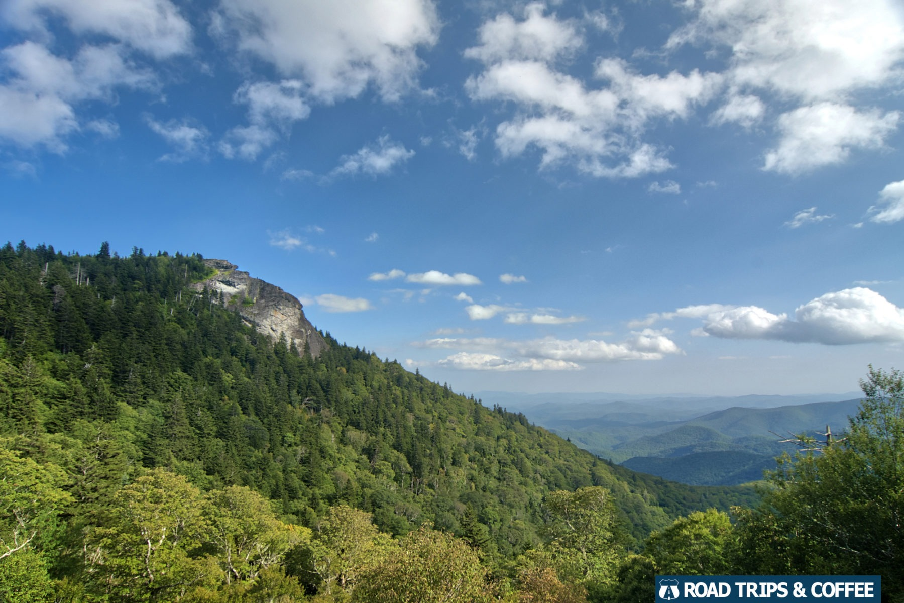View of Devil's Courthouse on the Blue Ridge Parkway in North Carolina