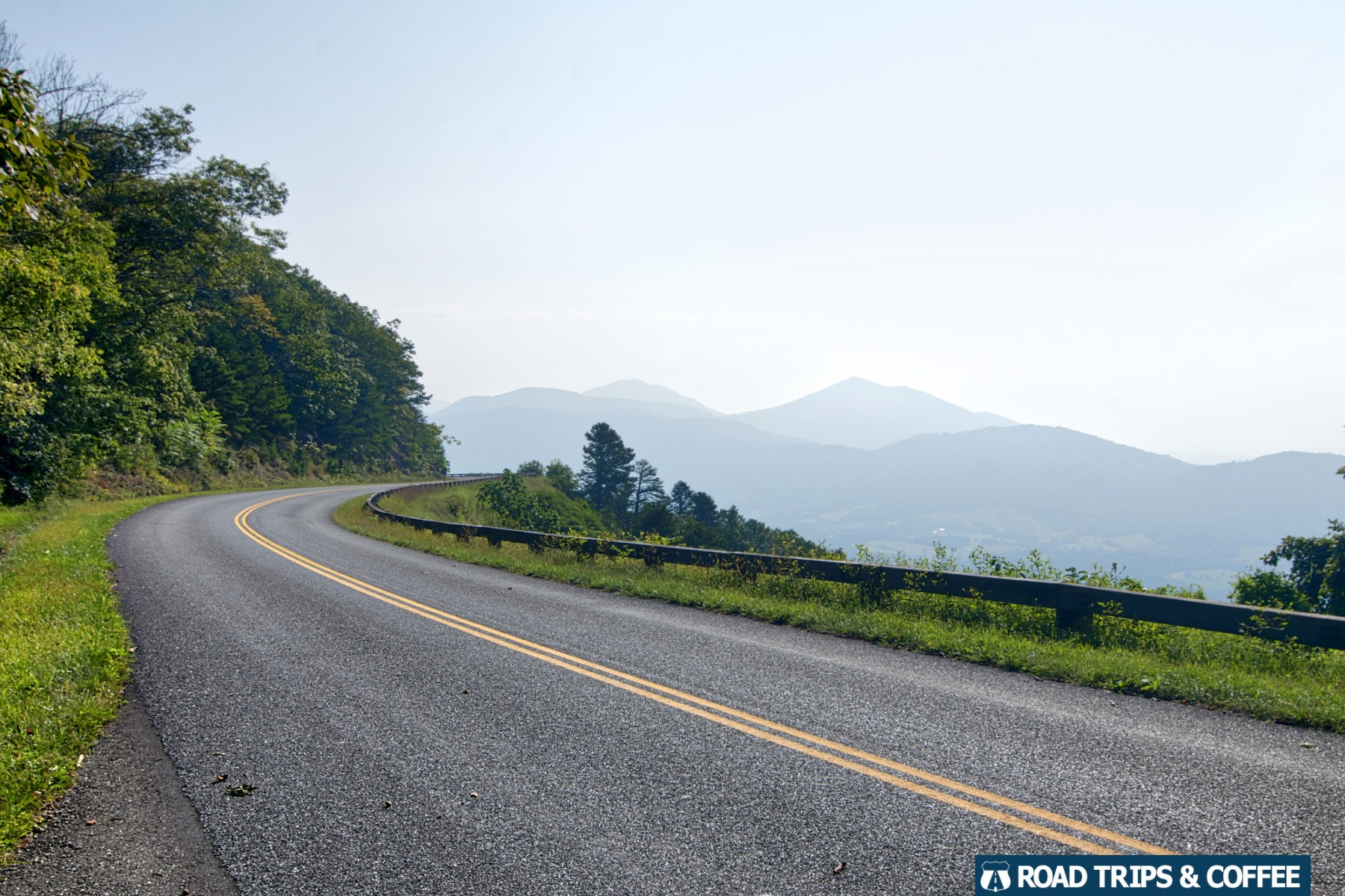 Mountains in the distance beyond the Blue Ridge Parkway in Virginia