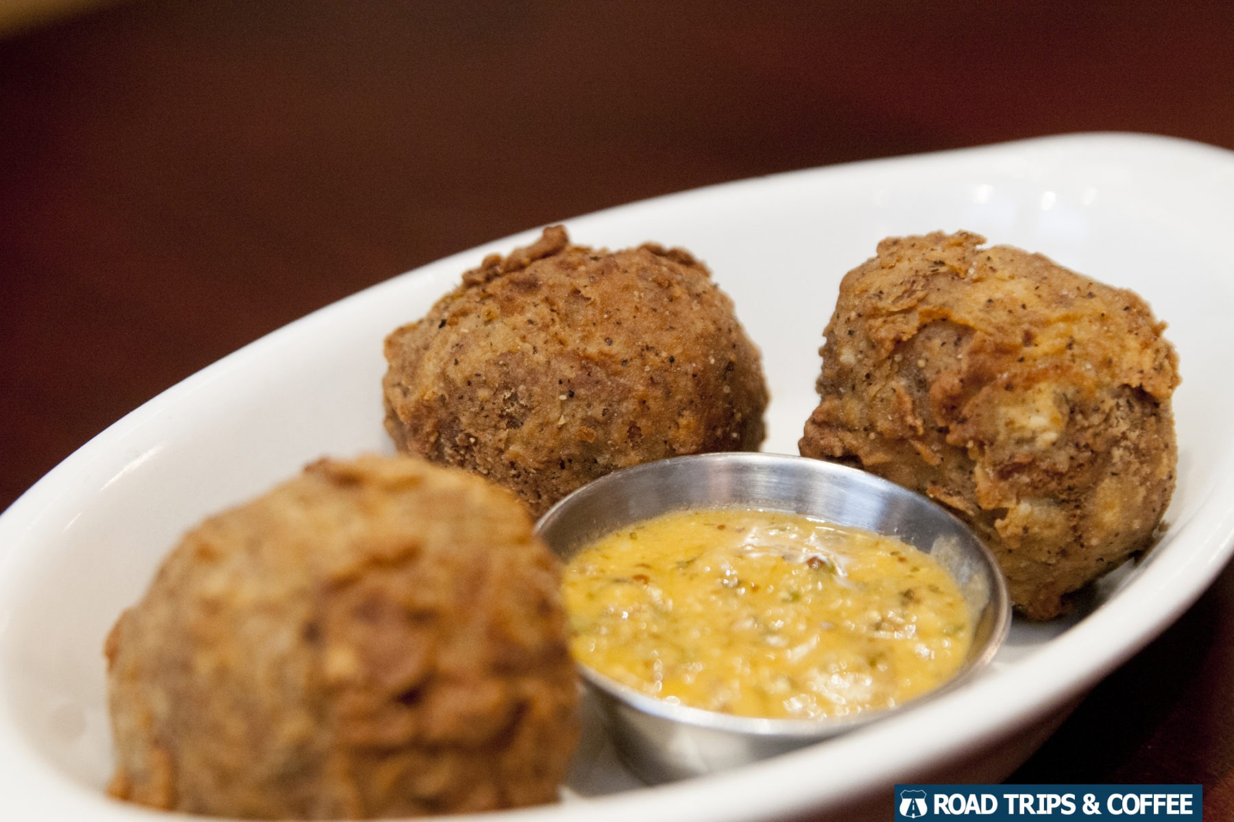 Delicious boudin balls appetizer from Roux Americajun in Clarksville, Tennessee
