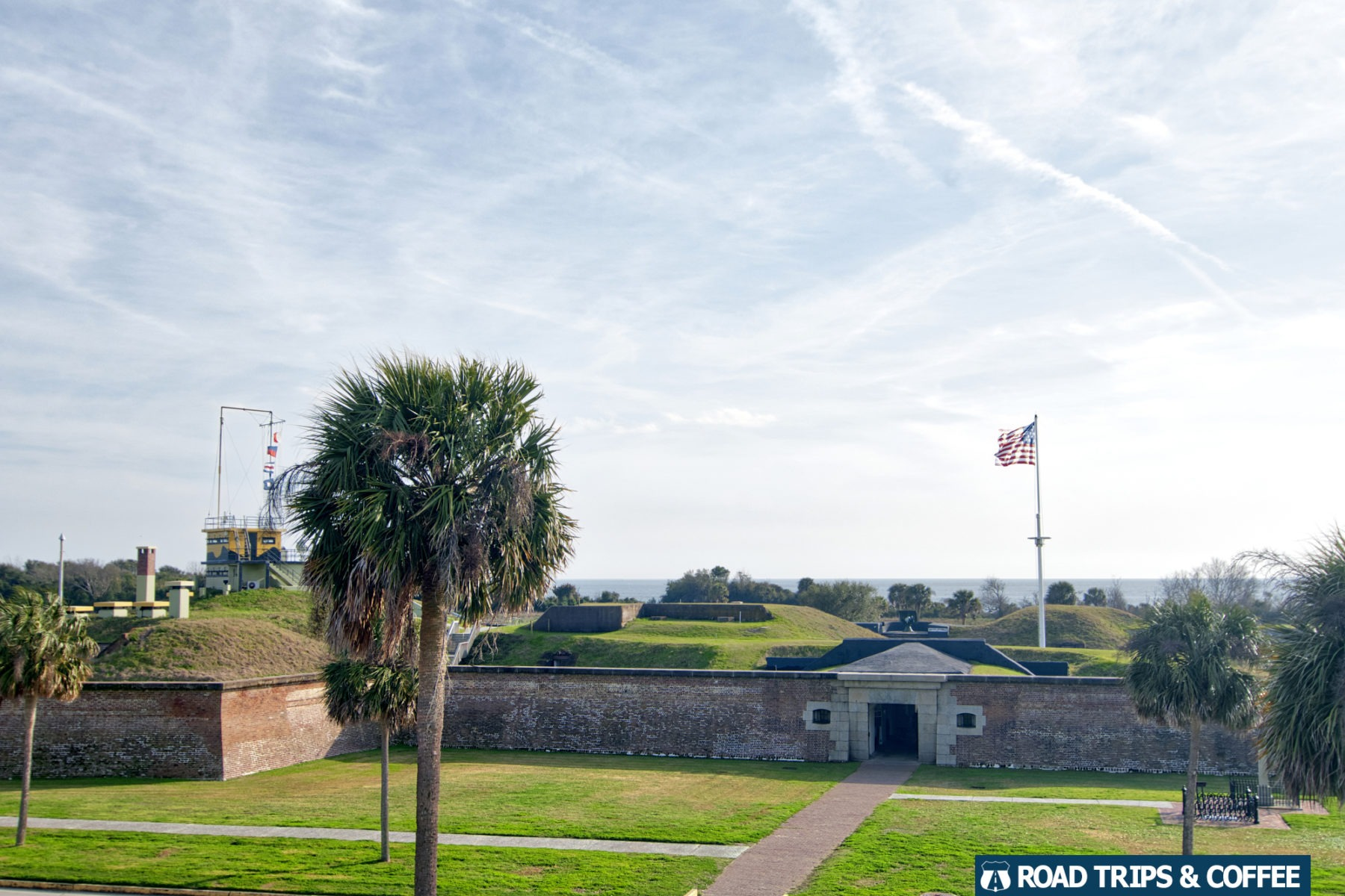 The entrance to Fort Moultrie at Fort Sumter & Fort Moultrie National Historical Park in Sullivan's Island, South Carolina